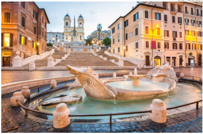 The Spanish Steps are named after the nearby Spanish Embassy